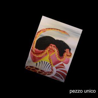 SANTA MARTA LA DOMINADORA - DIPINTO A MANO SU TELA (OLIO) CM 41 X 31- SANTO DOMINGO