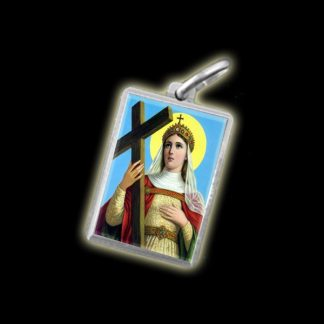 MEDAGLIA - IMMAGINE A COLORI SANT'ELENA - ARGENTO 925