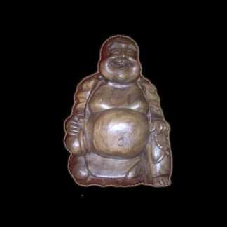 STATUA IN LEGNO BUDHA HAPPY MAN CM 54X40