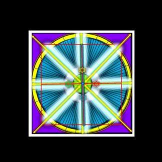 Telo cerimoniale in tessuto cm 38 X 38 Sigillo dei Segreti dell'Arbatel